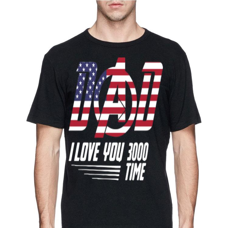 Download Dad I Love You 3000 Time American Flag Iron Man shirt ...