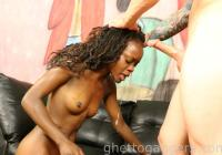 Gag reflex causes her to spit