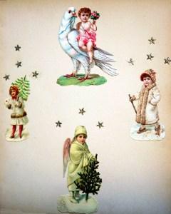 4 engle af forskellig typer fra omkring 1875 og frem med Dresden