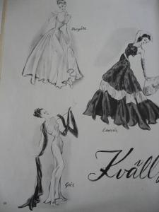 """Ill. Fra """"La Mode"""" 1947."""