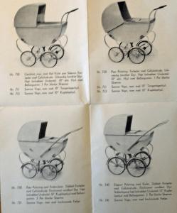 Odder barnevogne med trækalecher fra krigens tid!