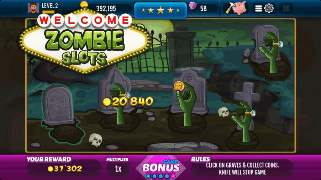 Zombie Free Slot Machine Screen #3