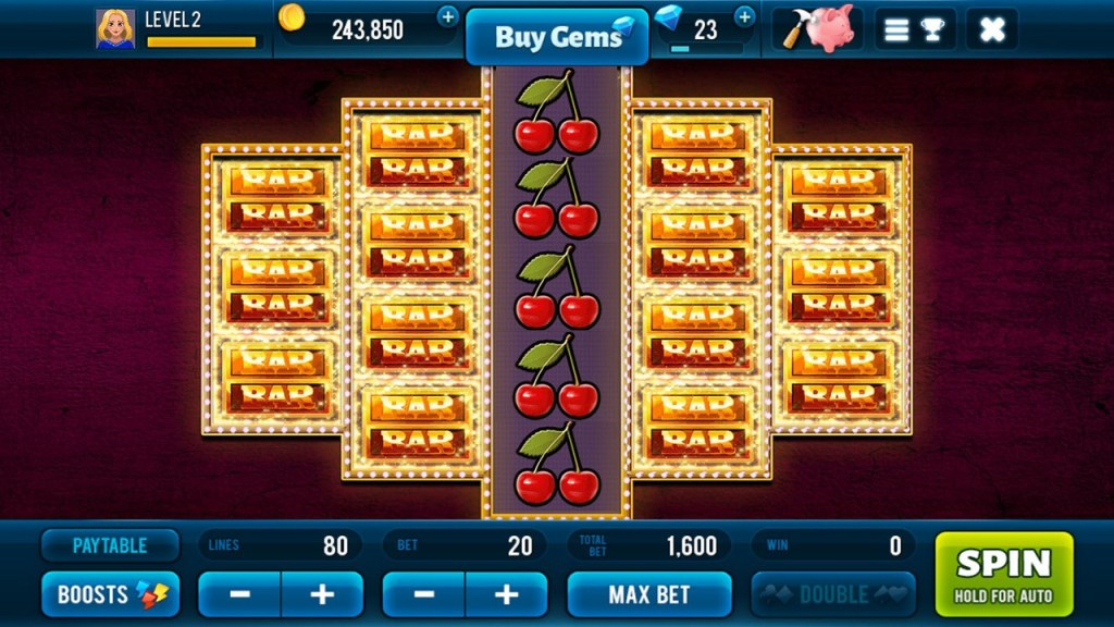 Golden Bars Slots Screen 2