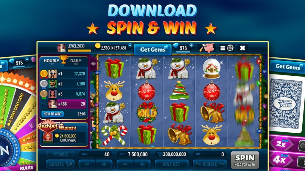 Happy Christmas Slot Machines Screen 1