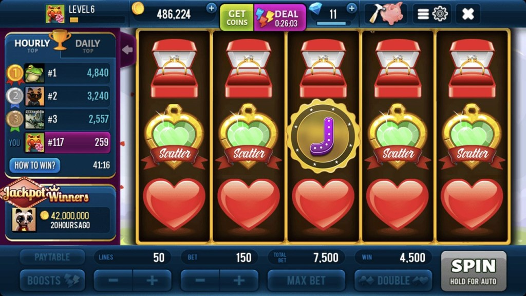 Romantic Spin Slots Machine Screen 1