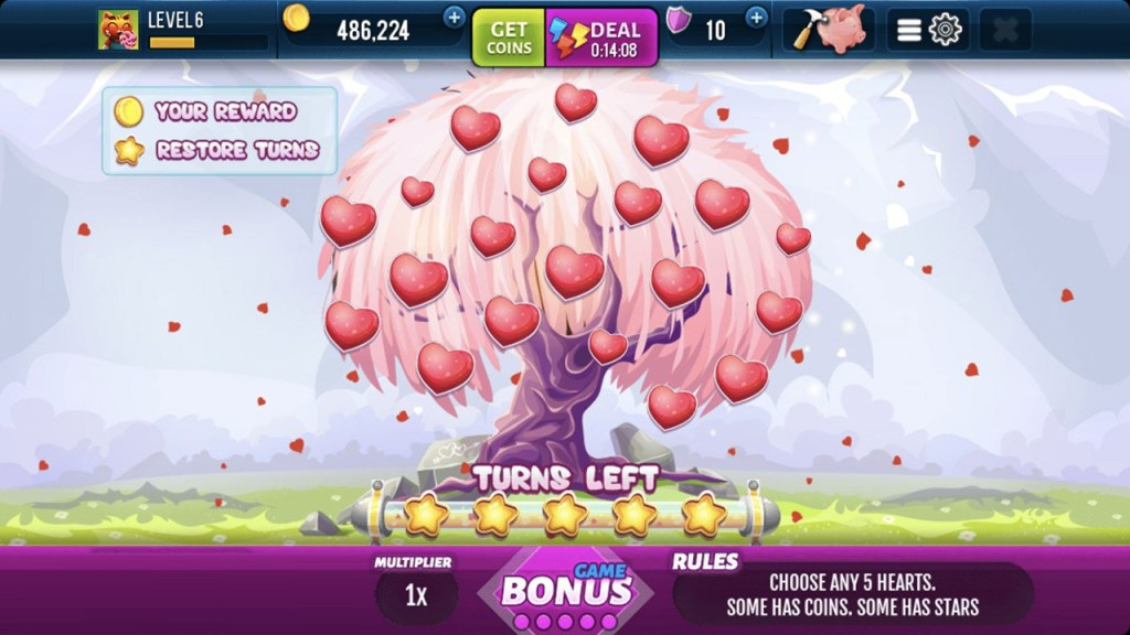 Romantic Spin Slots Machine Screen 2