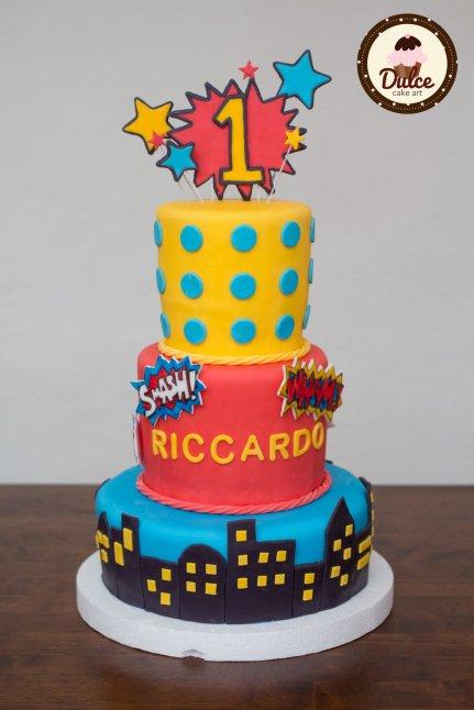 Torta Supereroi Pop