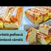Plăcintă pufoasă cu brânză sărată - rețetă VIDEO
