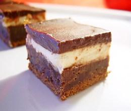 prajitura brownies cu crema de branza si ciocolata