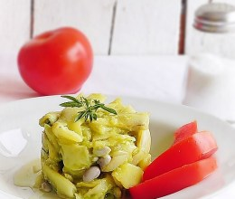 Salata de fasole pastai cu maioneza de avocado