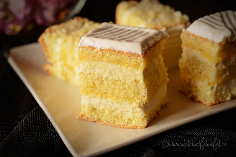 prajitura cu lemon curd si ciocolata alba