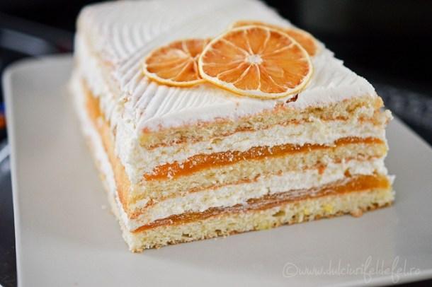 Prajitura cu crema de iaurt s jeleu de portocale