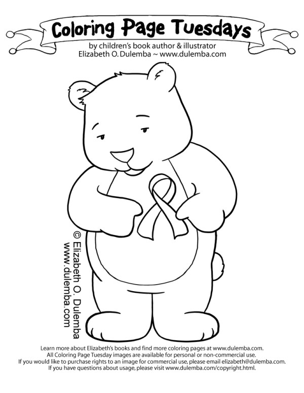 breast cancer coloring pages # 77