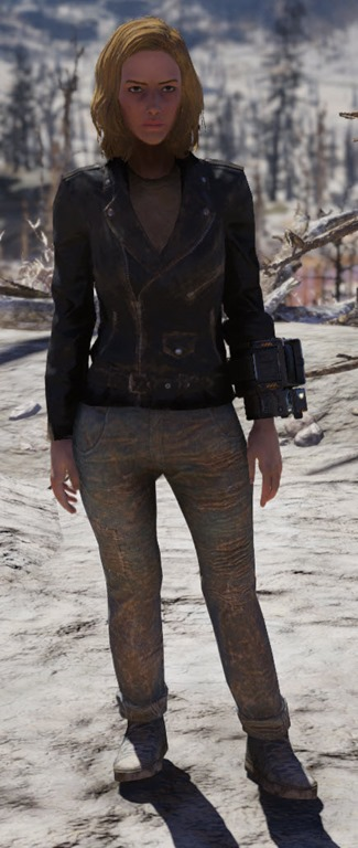 Greaser Jacket And Jeans Female
