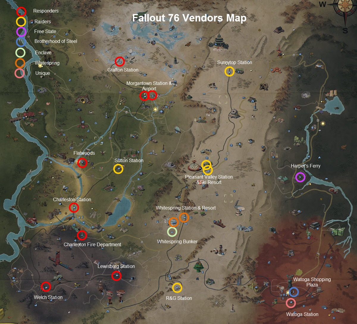 Fallout 76 Vendors Locations And Factions Guide Dulfy