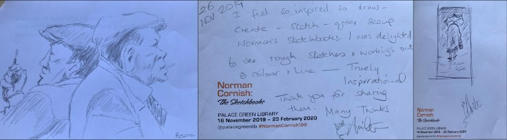 Visitor creativity and feedback from Norman Cornish: The Sketchbooks Exhibition