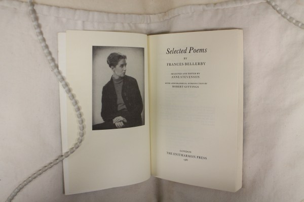 Title page of Frances Bellerby's Selected Poems edited by Anne Stevenson