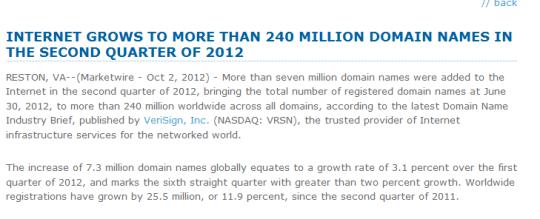 internet grows