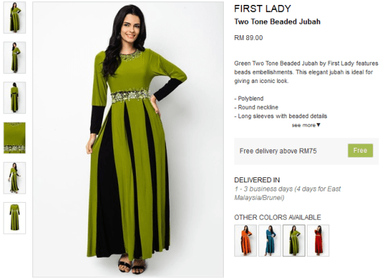 Two Tone Beaded Jubah