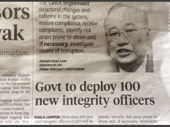 new integrity officer