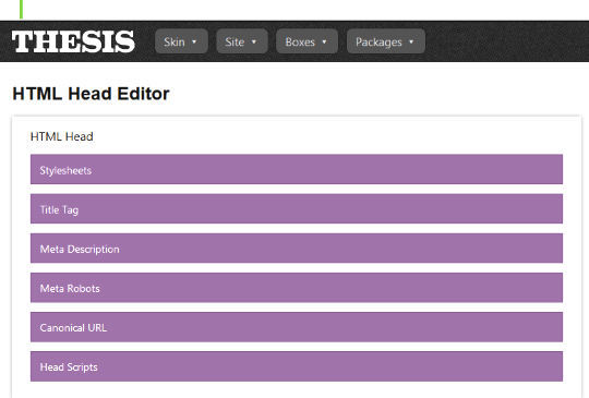 Thesis HTML editor