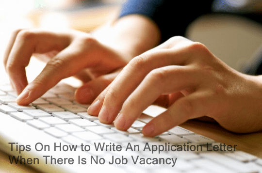 write an application letter