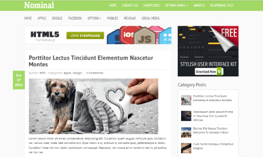 Nominal WordPress Theme