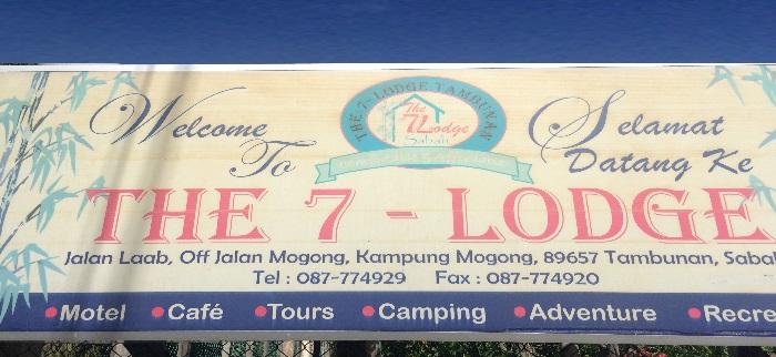 7-Lodge Tambunan Sign