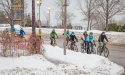 Photo of Bike Commuters in the Winter