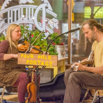 Four Mile Portage playing at the Duluth Folk School