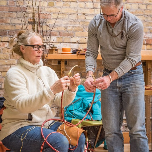 Appalachian Egg Basket Class at the Duluth Folk School