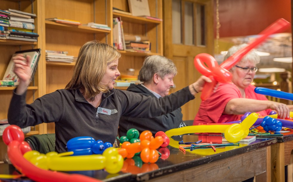 Balloon Twisting for Grownups at the Duluth Folk School