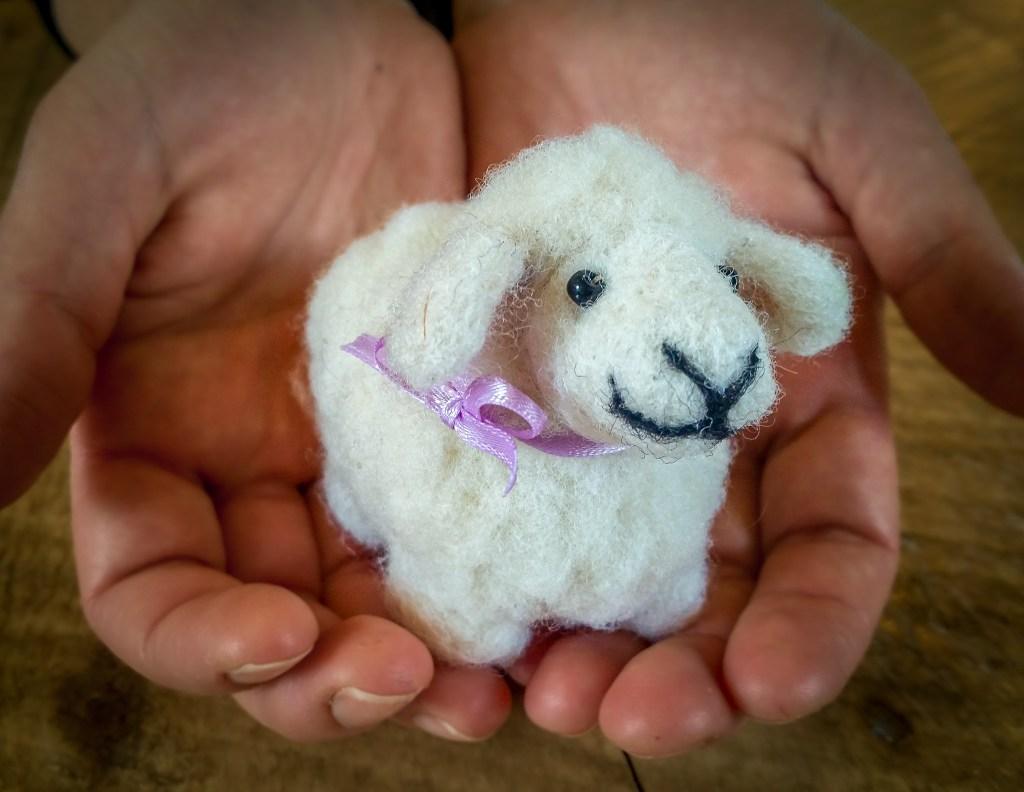 Needle Felted Lamb at the Duluth Folk School
