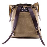 Back and straps of Frost River Pack