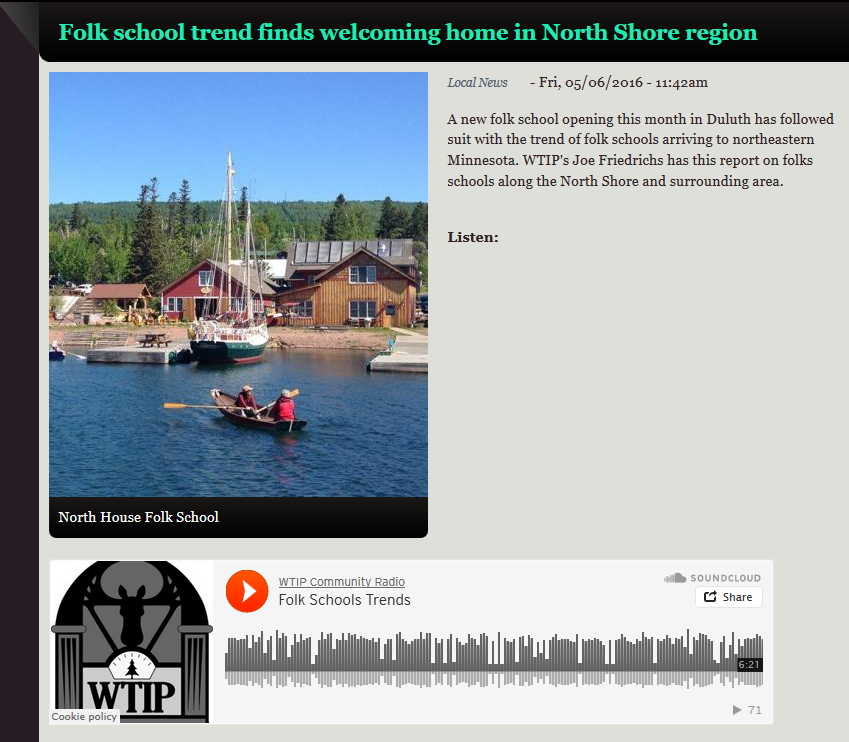 Duluth Folk School Interviewed on WTIP