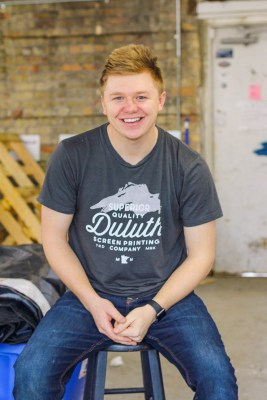 Ian Scherber, owner of Duluth Screen Printing