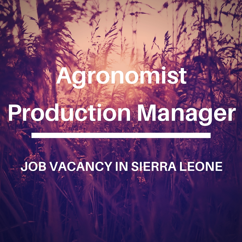 Agronomist Production MAnager