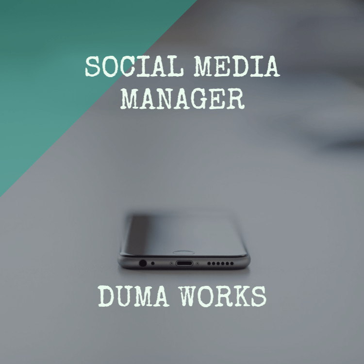job opening social media manager duma works blog. Black Bedroom Furniture Sets. Home Design Ideas