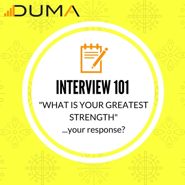 """Job interview advice for how to respond to an interviewer when they ask """"What is your greatest strength"""" Follow this advice and succeed on the interview."""
