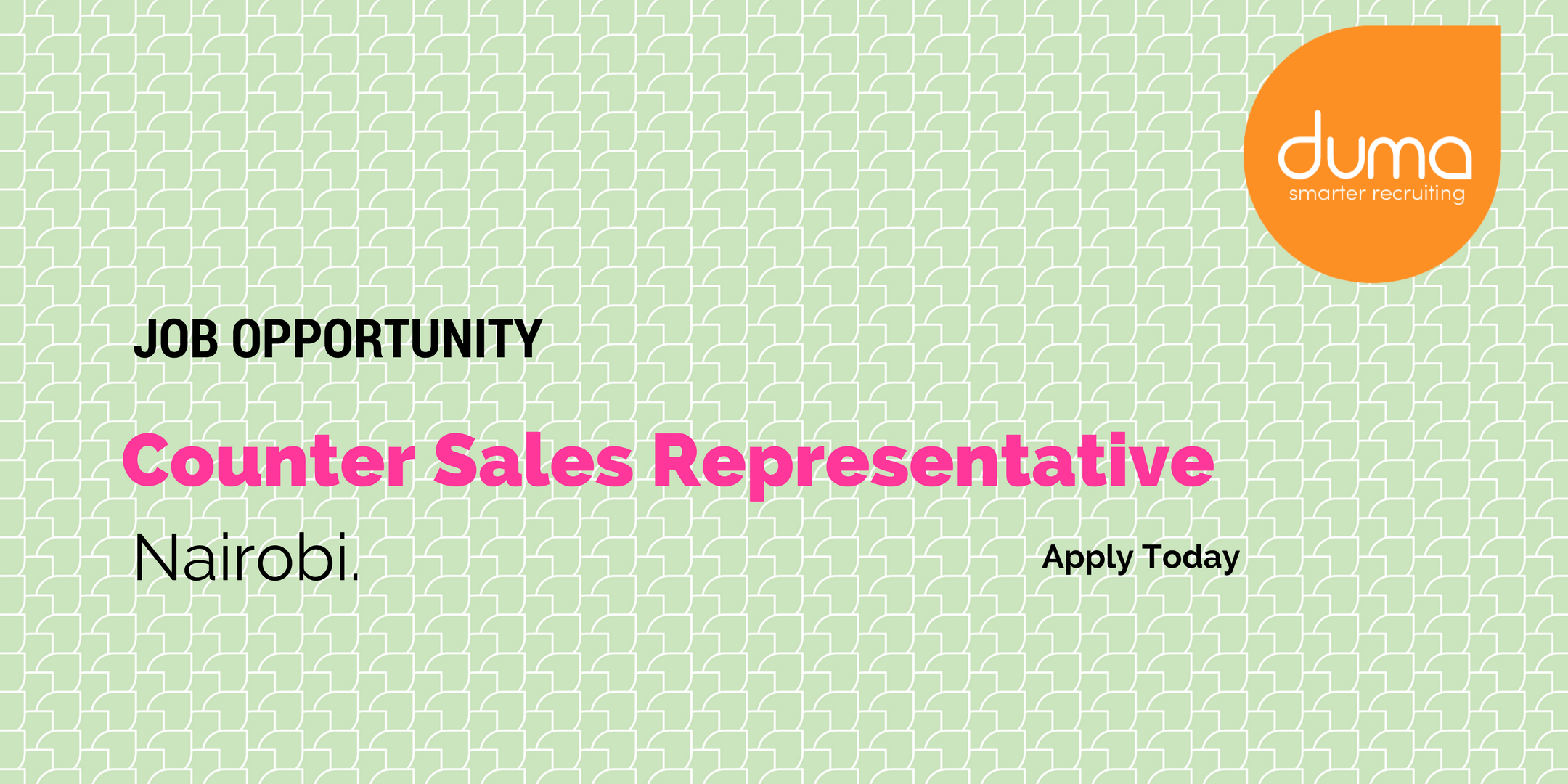 Apply for the Counter Sales Representative Role