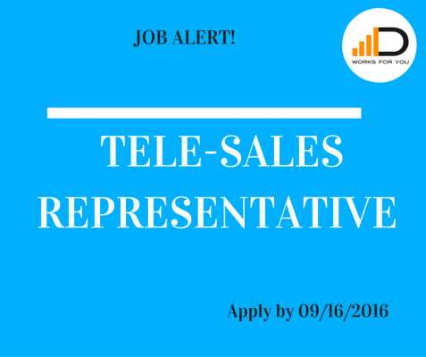 Apply for the Tele-sales representative to get an opportunity to grow and advance in your career.