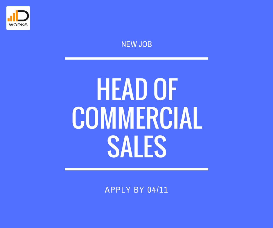 Apply for a Head of commercial sales job vacancy
