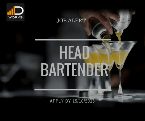 Apply for the Head Bartender position to work in a great Restaurant and Lounge, for a chance to advance in your career.