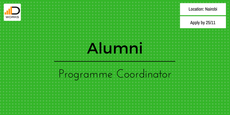 Apply for an Alumni programme coordinator job vacancy in Nairobi