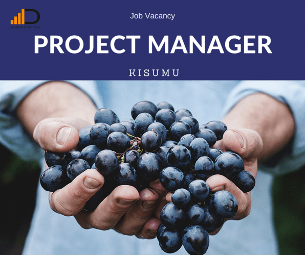 Apply for the Project Manager if you have interest in Agri-Business sector