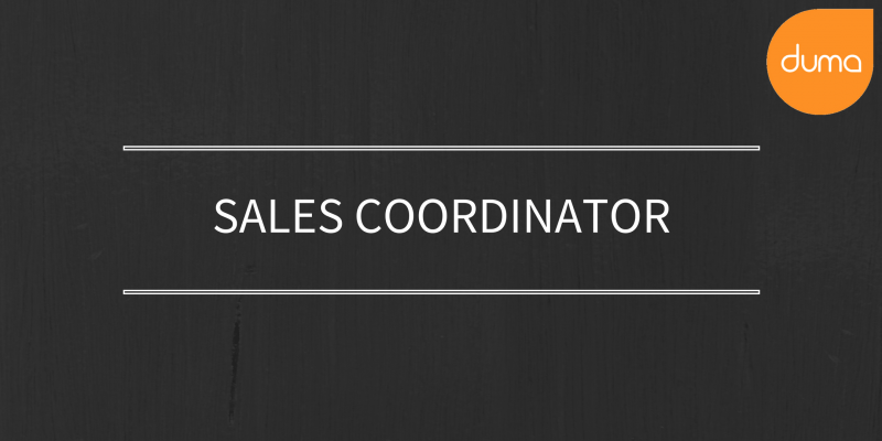 Apply for the Sales Coordinator Role