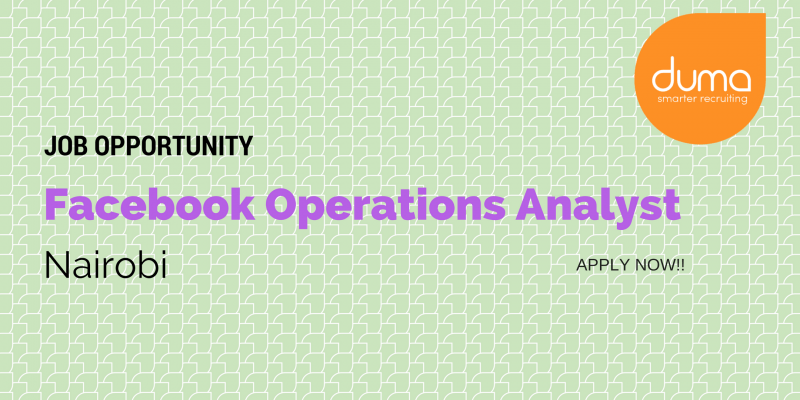 Fcaebook Operrations Analyst job.