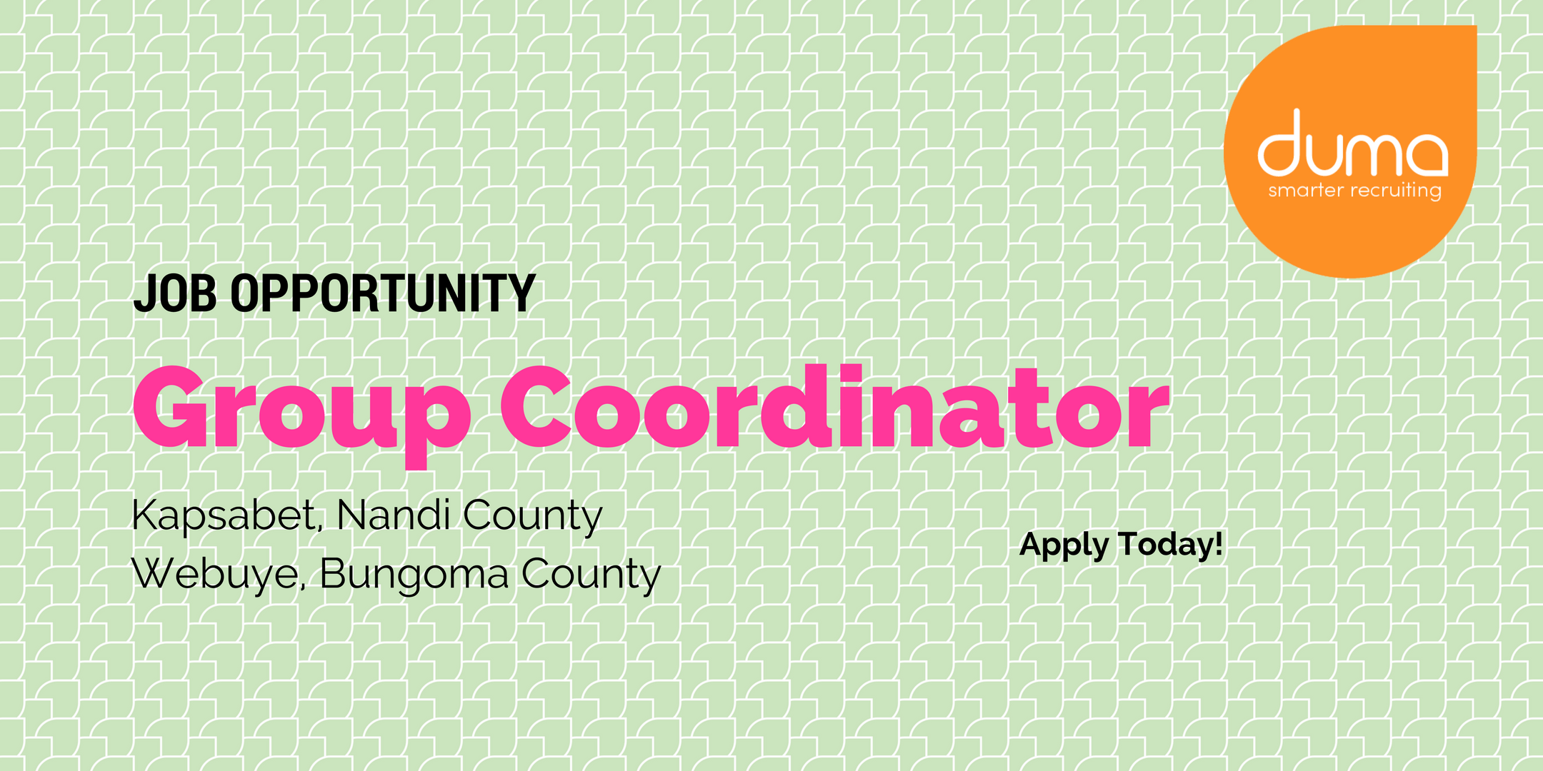 Apply for this Group Coordinator Vacancy