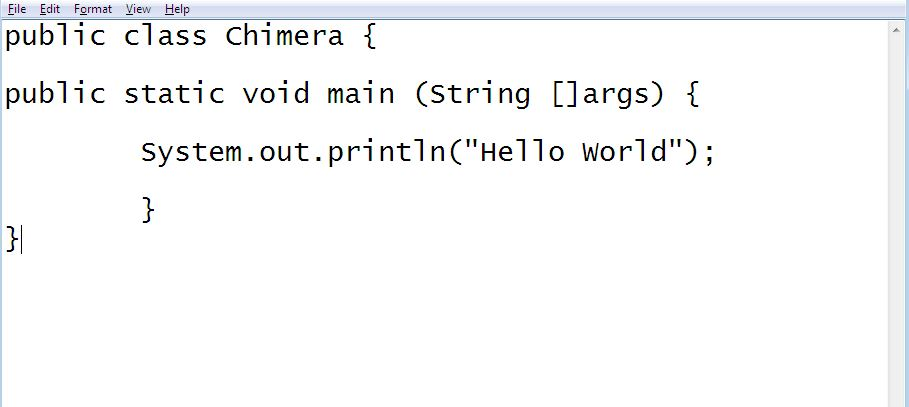 Hello World Java program first Java demo program