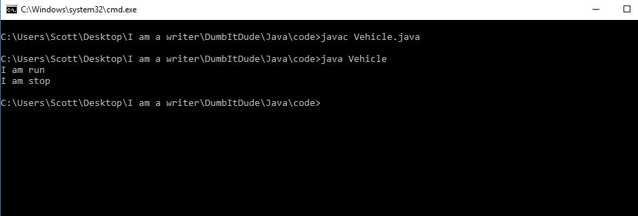 image you get after executing the program in cmd Java